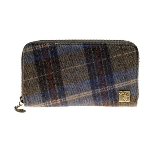 House of Tweed Purse in Blue Check